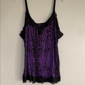 Purple Snakeskin Camisole